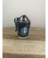 Starbucks Coffee Christmas Ornament Iridescent Black Luster Holiday Tree... - $18.80