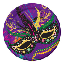 "Mardi Gras Masks Collection Party 8 9"" Lunch Dinner Plates - £2.88 GBP"