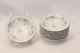 "Johann Haviland Blue Garland Fruit Bowls 5.25"" Bavaria Lot of 8 - $35.23"