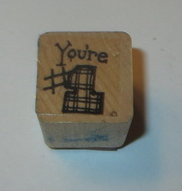 You're #1 Rubber Stamp Close To My Heart Wood Mounted  - $3.46