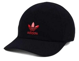 NEW! Adidas Men's Originals Trefoil Weld Trainer Cap-Black/Red, Adjustable - $49.38
