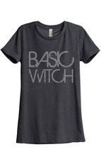 Thread Tank Basic Witch Women's Relaxed T-Shirt Tee Charcoal Grey - $24.99+