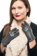 Nappa Leather Zipper Glove For Women, Touchscreen Cold Weather - Lined G... - $32.30