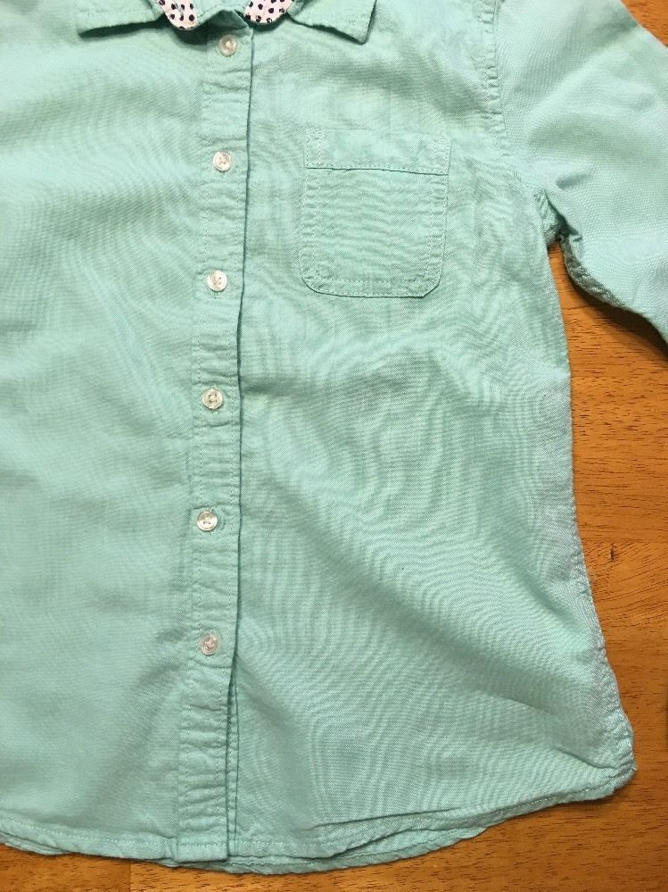 Gap Kids Girl's Teal Long Sleeve Dress Shirt - Size: Medium image 10