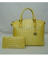 SET of Brahmin Duxbury Satchel/Shoulder Bag + Ady Wallet in Lemonade Mel... - $349.00