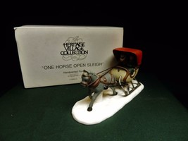 One Horse Open Sleigh NEW Department Dept. 56 Dickens Village-MIB - $11.76