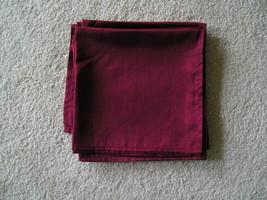 Set Of 8 Red Organza Like Napkin Sheaths 20 x 20 World Market 100% Polye... - $14.99