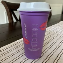 Starbucks 2021 Reusable Hot Cup 16 oz Valentines Day Color Changing Lips... - $13.85