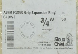 Sioux Chief ASTM F1960 Grip Expansion Ring 649W3 Package Of 50 Per Bag image 2
