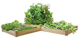 Greenes Fence Two Tiers Dovetail Raised Garden Bed Baskets Pots Window B... - €138,65 EUR