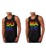 Set Of 2 Men's Tank Top Soul Mate Couple Gay Pride Love Tops - $34.94