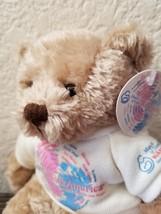 """2000 March of Dimes Plush Teddy Bear Walk America Bear Plushland 8"""" - $15.59"""