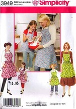 2006 Child's & Misses' APRONS Pattern 3949-s Child and Adult Sizes UNCUT - $12.00