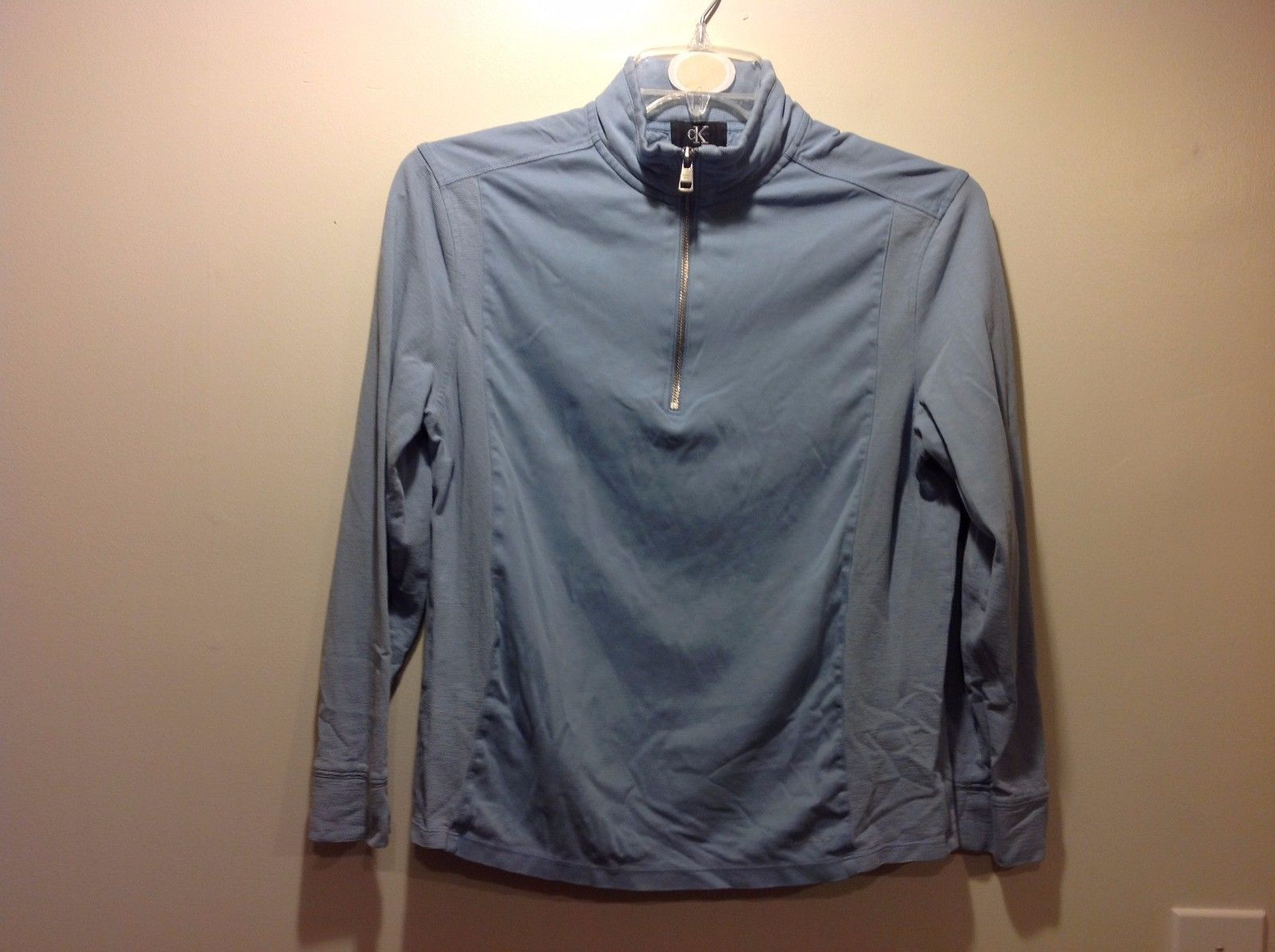 Periwinkle Pale Blue Pullover Jacket by Calvin Klein Sz Medium