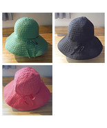 Womans Bucket Hat with Flair choose Pink, Green or Black Adult Size - $5.85