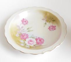 Vintage Heritage Lefton Botttom Base Bowl Replacement Piece Pink Roses G... - $8.95