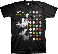At The Drive-In-Street Scene-Large Black T-shirt - $16.39