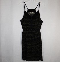 Lush Dress Large Green Black Spaghetti Strap - $14.57