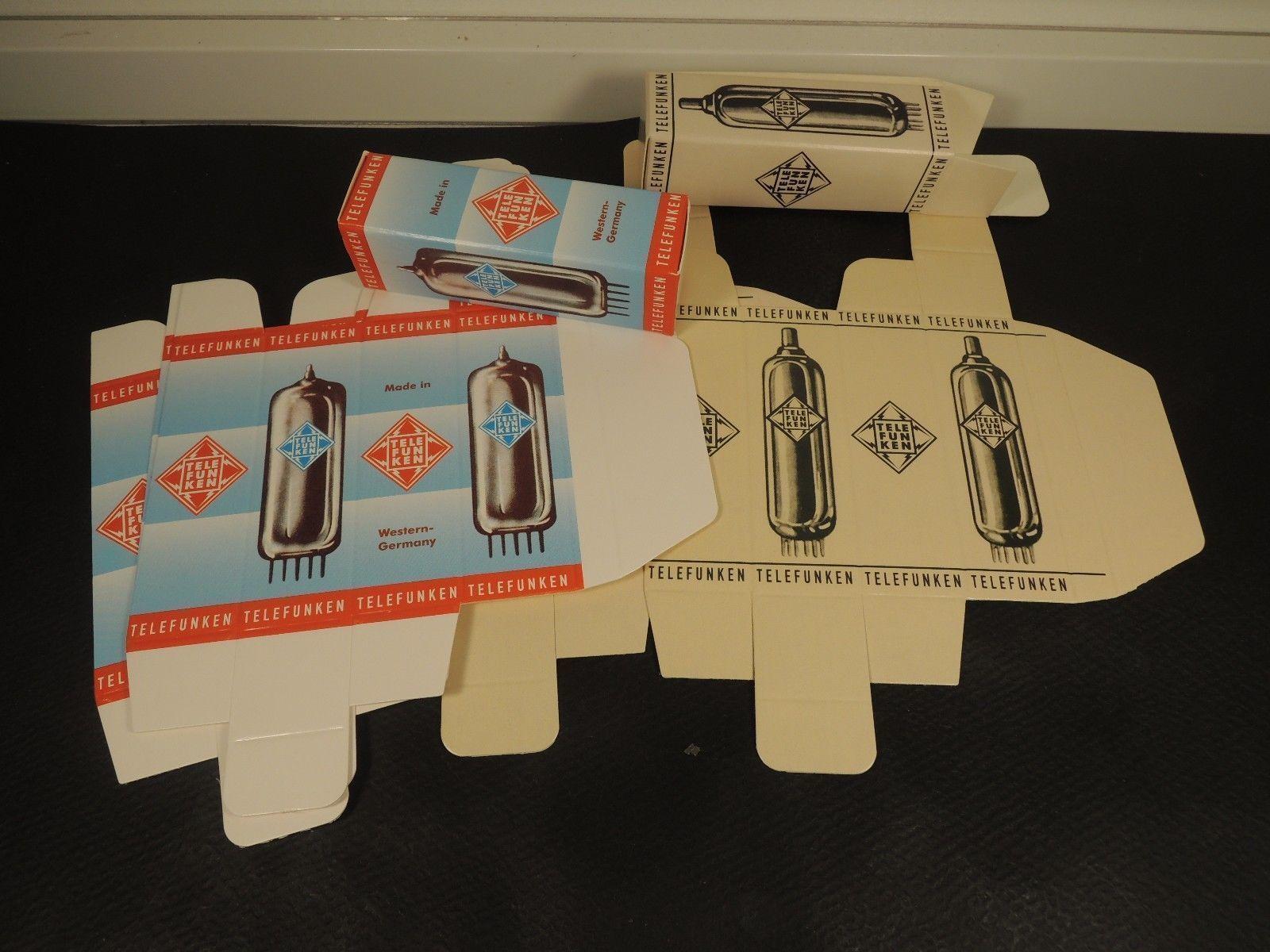 50x Telefunken Carton Box For Radio Tubes Ecc83 Ecc803s