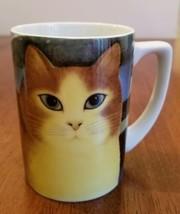 """""""Cats Away"""" Dept. 56 Cat Coffee Mug Cup Martin Leman Cats Blue Black Japan - $18.00"""