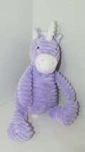 Unipak plush purple white unicorn ribbed 2012 bean tush sitting up seated - $17.81