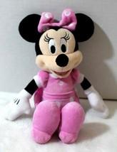 "Disney 10"" Minnie Mouse Plush Doll Pink Dot Dress Daycare Gift Present E... - $14.84"