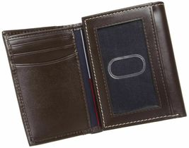 BRAND NEW TOMMY HILFIGER MEN'S LEATHER CREDIT CARD WALLET TRIFOLD BROWN 5676-2 image 4
