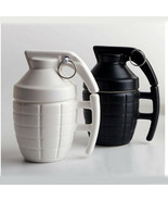Unique Grenade Shaped Mug Military Bomb Style Ceramic Coffee Mugs Dinner... - $24.95