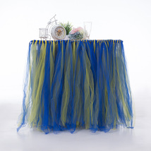Any Color TABLE TUTU Skirt Rainbow Table Tulle Skirt Tutu Tulle Table Decoration image 10