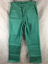"""Flame Resistant Green Pants 100% Cotton Size Small 32"""" X 32"""" Condor Dura... - $16.78"""