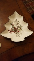 Lenox Etchings Collection Tree Candy Dish Pinecone Berries Catherine McClung - $8.49