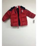 U.S. Polo Assn. Boys Bubble Jacket, Winning Red Blue, 2T - $24.18