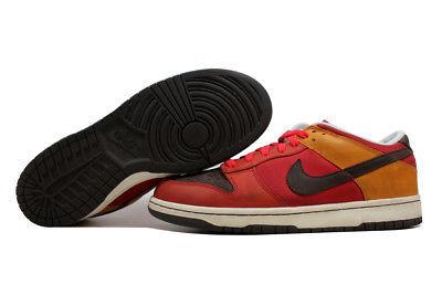 73b4e20f7a79 Nike Dunk Low Premium Cardinal Red Baroque Brown-Orange 309730-621 SZ 11.5
