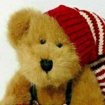 Boyds Bears Ernie Elfbeary Jointed Christmas Holiday Plush Beans 918358 - $11.99