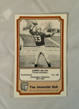 1974 Fleer Football NFL Sammy Baugh Washington Redskins TCU Trading Card   - $1.96