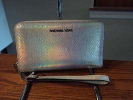 Michael Kors Large Multifunction Phone Case Leather Zip Wallet Rainbow S... - £63.03 GBP
