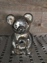 Metal Teddy Bear and Baby Bear Bank Vintage - $32.54