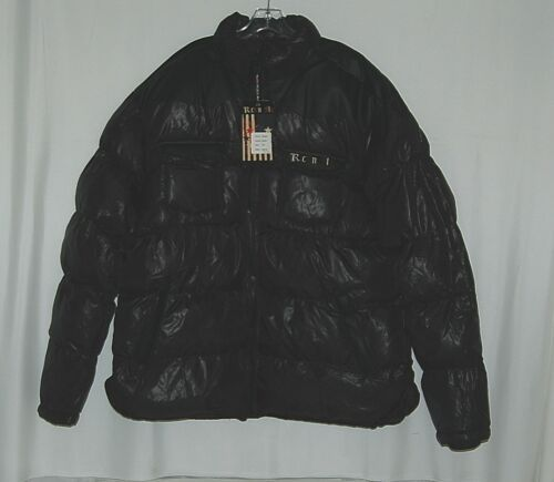 Rich N Fly RF1010 Black 5XL Puffy Coat Heavy Duty Zipper