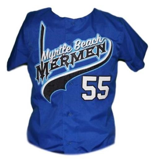 Kenny powers  55 myrtle beach mermen eastbound and down tv baseball jersey blue  1