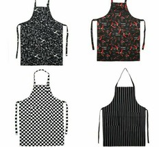 New Adjustable Chef Apron Female Or Male Cooking Apron Kitchen Restauran... - $9.49
