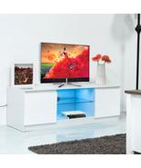 Giantex Led TV Stand Shelves Wood Cabinet Media Unit Living Room Furnitu... - $140.99