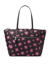 Michael Kors Kelsey Large Top Zip Nylon Tote Bag Purse Black Floral New NWT - $93.11