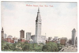 Madison Square East New York City 1910c postcard - $6.00
