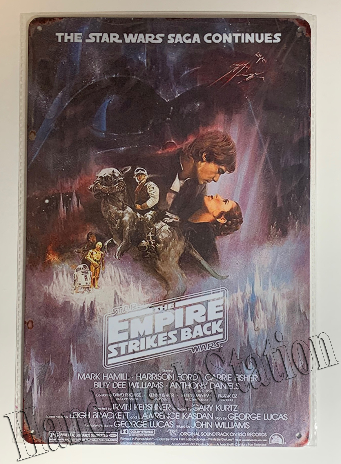 Star Wars Saga Continues Empire Strikes Back poster Wall Metal Sign plate Home d