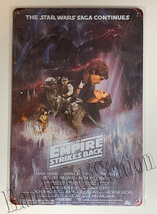 Star Wars Saga Continues Empire Strikes Back poster Wall Metal Sign plate Home d image 1