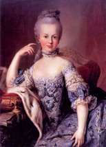 Oil painting Art Noblelady beauty Marie Antoinette seated hand painted O... - $29.69