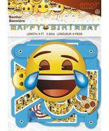 6 Foot Emoji Birthday Banner [New] Party Supplies - $9.19