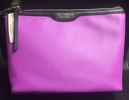 Victoria Secret Designer Faux Leather Clutch Purse Cosmetic Make Up Bag NWT - $6.88