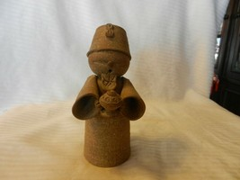 """Hand Made Brown Clay Wise Man Bearing Gift Figurine 7"""" Tall - $29.70"""