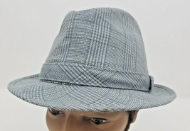 Dorfman Pacific Gray Glen Plaid Fedora Men's Hat Size L - $15.56